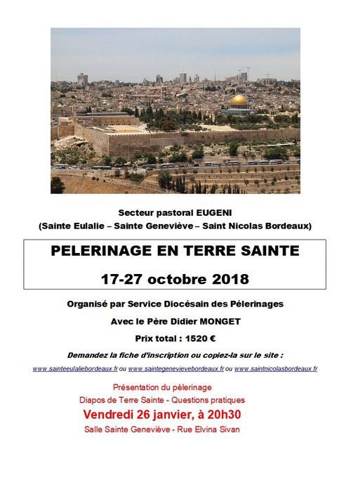 Annonce Terre Sainte